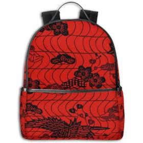 リュック 和風 絵画 バックパック メンズ レディース スクールバッグ 軽量 おしゃれ 通学 大容量 旅行 プレゼント 防水 リュックサック