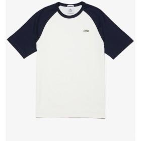 『LACOSTE L!VE』配色ラグランスリーブTシャツ