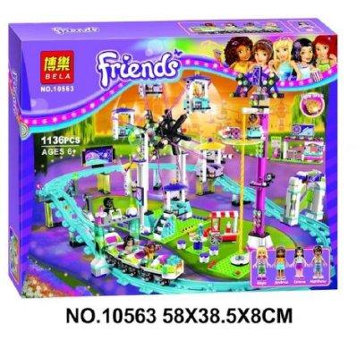 【現貨】博樂新品 Friends 女孩系列 10563遊樂園摩天輪過山車 益智積木/兒童玩具與樂高相容☆積木好好玩☆