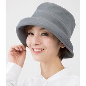 国産 岡山児島デニムのおでかけ帽子 グレー