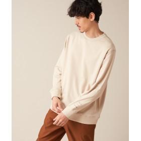 Discoat(ディスコート) メンズ 袖ロゴ刺繍裏毛プルオーバー ライトグレー