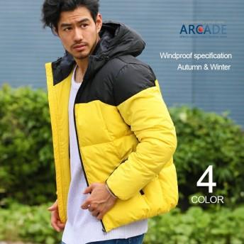 ダウンジャケット メンズ 中綿入りジャケット 撥水加工 ダウンパーカー 中綿ダウンジャケット アウター ブルゾン 防寒 軽量
