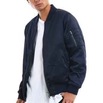 インプローブス MA-1 メンズ MA1 エムエーワン 中綿 ナイロン ジャケット フライトジャケット ジャンパー ジャンバー ブルゾン 黒 紺 アウター ネイビー XL サイズ