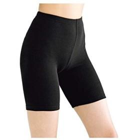 [nissen(ニッセン)] 綿混裏起毛3分丈オーバー パンツ 2枚組 レディース 黒 M~L セット組