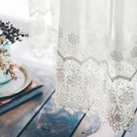繊細なフラワー柄のトルコ刺繍レースカーテン