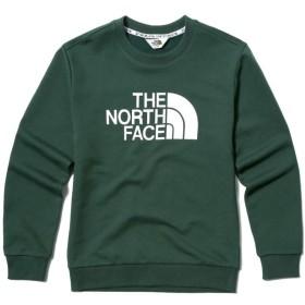(ノースフェイス) THE NORTH FACE ビッグロゴプルオーバーシャツクルーネックシャツマンツーマンフード男性女性カジュアル長袖Tシャ (90(S), DARK GREEN) [並行輸入品]