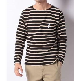 メラン クルージュ リンクおじさんボーダーバスクシャツ メンズ ブラック M 【Melan Cleuge】