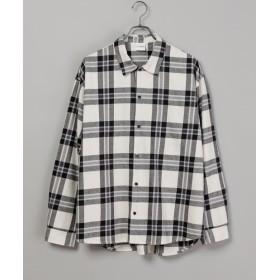 CIAOPANIC(チャオパニック) レディース 綿テンセルビエラチェックシャツ/WEB限定カラーあり ホワイト