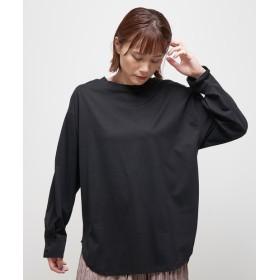 Omekashi(オメカシ) レディース シルケットロングT ブラック