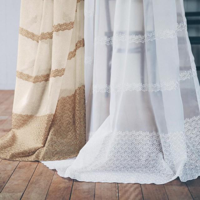 トルコ刺繍のレースカーテンジャスミン