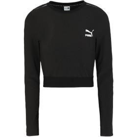 《9/20まで! 限定セール開催中》PUMA レディース T シャツ ブラック XS ポリエステル 86% / ポリウレタン 14% Classics Rib LS Top