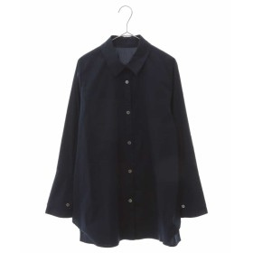 HIROKO BIS 【洗濯機で洗える】ストレッチ カフスシャツ シャツ・ブラウス,ネイビー