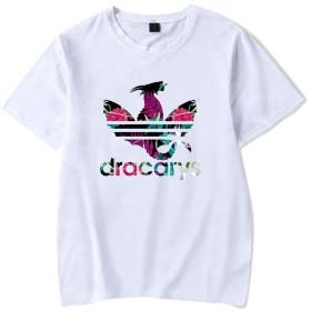 記念シャツ dracarysTシャツ インナーシャツ おしゃれティーシャツ メンズファッション uネック 半袖 夏服 ギフト 誕生日プレゼント (ホワイト, XS)