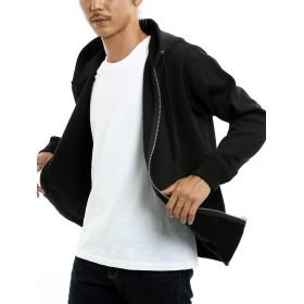 インプローブス パーカー メンズ ジップパーカー パーカ 裏起毛 長袖 スウェット スエット トップス ブラック L サイズ