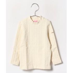 (MIKI HOUSE HOT BISCUITS/ミキハウスホットビスケッツ)ケーブルニット長袖Tシャツ(80-90cm)/レディース アイボリー