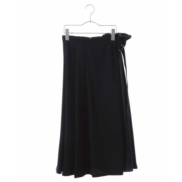 HIROKO BIS 【洗える】アシメトリーデザインスカート その他 スカート,ネイビー
