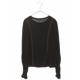 HIROKO BIS 【洗える】グロリアススムースカットソー Tシャツ・カットソー,ブラック
