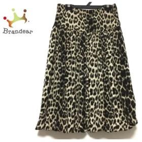 レジィーナロマンティコ Regina Romantico スカート サイズ40 M レディース ベージュ×黒 豹柄 新着 20190831