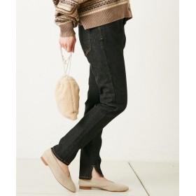 CIAOPANIC TYPY(チャオパニックティピー) レディース 裾スリットデニムレギパン ブラック