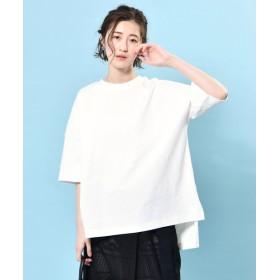 COLLAGE GALLARDAGALANTE(コラージュ ガリャルダガランテ) レディース ビッグTシャツ ホワイト