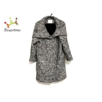 リリディア Lilidia コート サイズ2 M レディース 美品 黒×白 冬物 新着 20190831