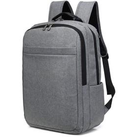 KU-MAX リュック メンズ 通学 通勤 大容量 バッグパック 盗難防止 リュック 丈夫な15.6インチPCバッグ バックパック 宿泊学習 グレー KU184