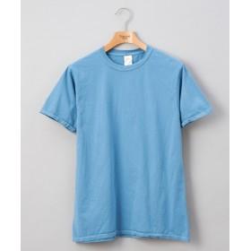 Discoat(ディスコート) メンズ フルールオブザルーム 後染めカラーTシャツ サックスブルー