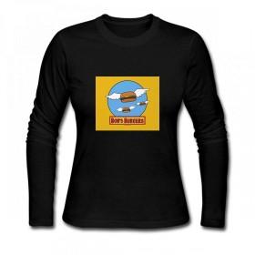 トップス ボブズバーガーフライングバーガー Women Long Sleeve T-Shirt レディーズ Tシャツ