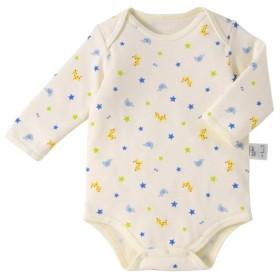 [マルイ] ボディシャツ(ロンパース肌着 / 長袖 / 60-90cm / クルマ・どうぶつ・クローバー)/ミキハウス ホットビスケッツ(MIKIHOUSE HOT BISCUITS)
