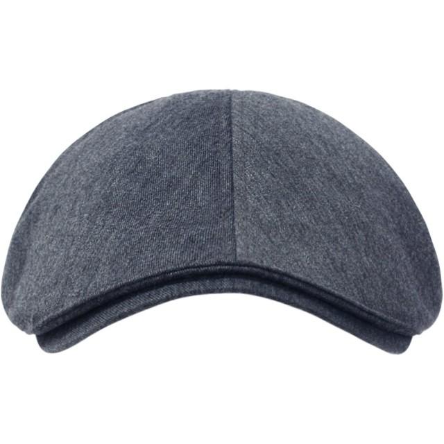 (イリリリー)ililily コットン フラットキャップ キャビーハット ギャツビー アイビーキャップ アイリッシュ ハンチング帽 ニュースボーイ(One Size, Blue Grey)