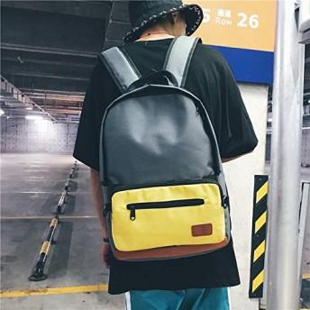 YMF 1ダブルショルダースクールバッグトラベルバックパックバッグに付き2 (色 : Grey)