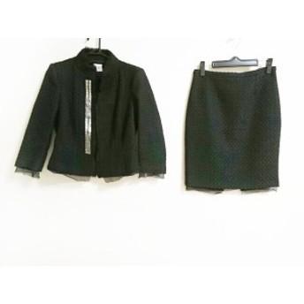パオラ フラーニ PAOLA FRANI スカートスーツ サイズ42 M レディース 美品 黒 レース/ビーズ【中古】20190830