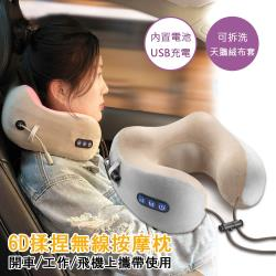 AS 亞設 U型記憶棉旅行按摩枕 (攜帶型旅行用-USB充電款)