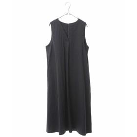 HIROKO BIS 【洗濯機で洗える】ピンストライプVネックドレス その他 ワンピース,ネイビー