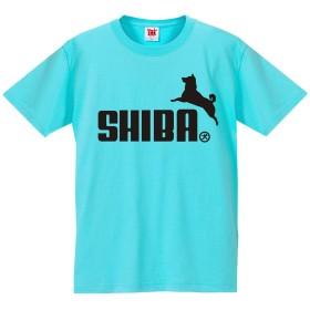 Tシャツ 柴犬 【水色T】【レディースL】