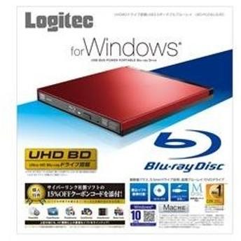 Logitec UHDBDドライブ搭載 USB3.0ポータブルブルーレイ レッド LBD-PUD6U3LRD