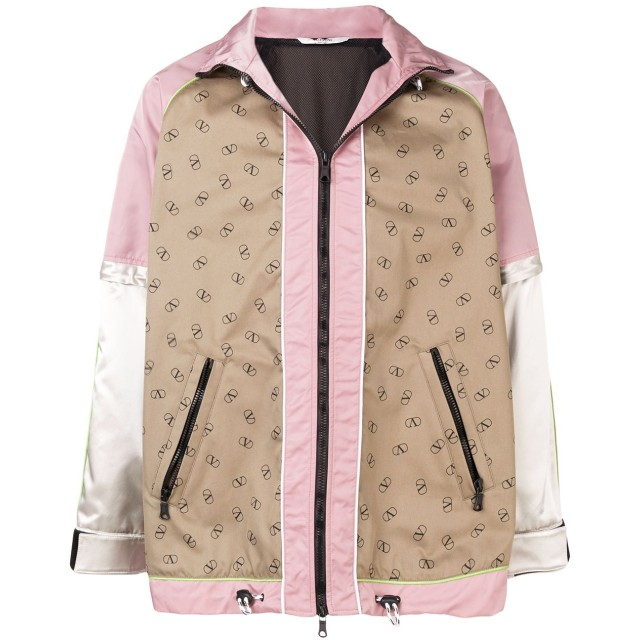 Valentino ロゴ ジャケット - ピンク