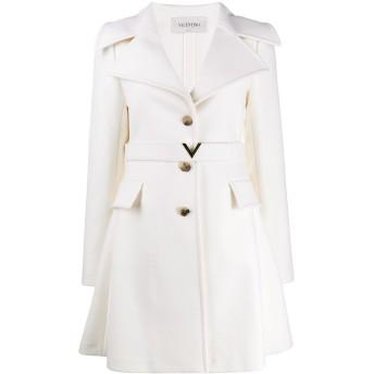 Valentino ベルテッド シングルコート - ホワイト