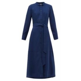 セフィン Cefinn レディース ワンピース ワンピース・ドレス Belted voile shirtdress Blue