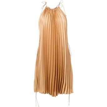 Stella McCartney プリーツ ドレス - ニュートラル