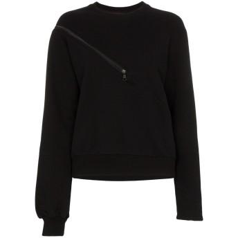 Unravel Project ジップディテール スウェットシャツ - ブラック