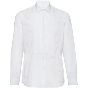 Prada プリーツビブ シャツ - ホワイト