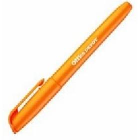 (業務用セット) 蛍光ペン シングルタイプ オレンジ 1箱(10本) 【×10セット】  送料無料