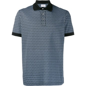 Salvatore Ferragamo プリント ポロシャツ - ブルー