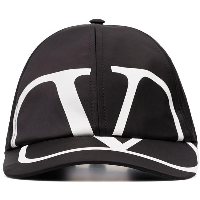 Valentino Vロゴ キャップ - ブラック
