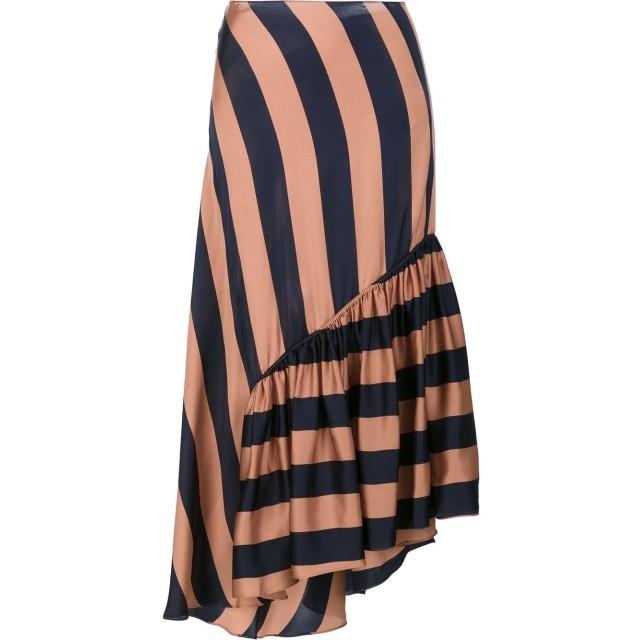 Stella McCartney ストライプ柄 アシンメトリースカート - ブラウン