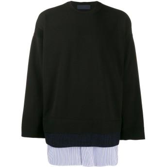 Juun.J レイヤード スウェットシャツ - ブラック