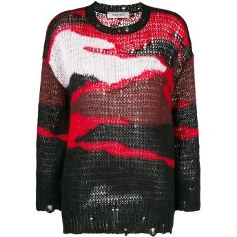 Valentino カラーブロック セーター - ブラック