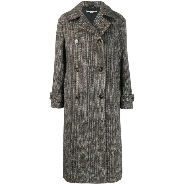 Stella McCartney ストライプ コート - ブラック