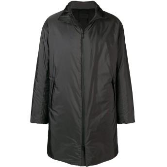 Prada フーデッド シングルコート - グレー